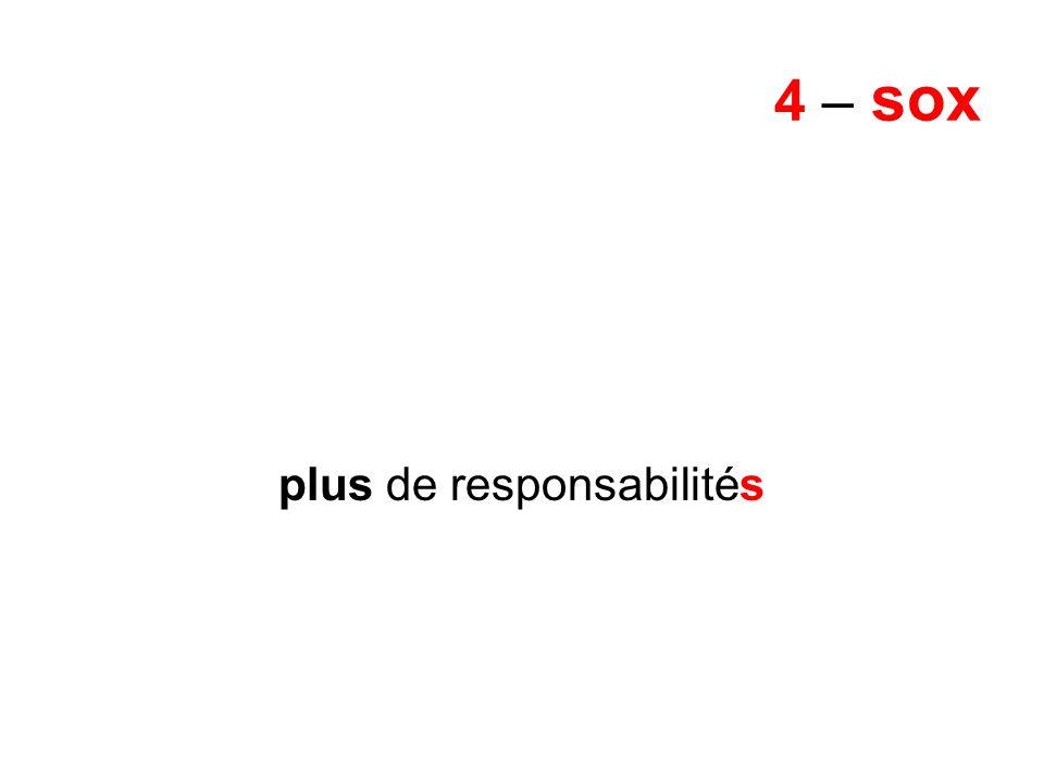 4 – sox plus de responsabilités