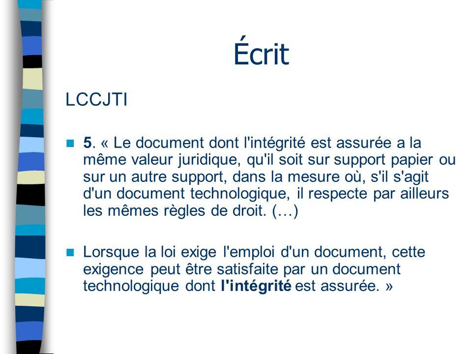 Écrit LCCJTI 5.