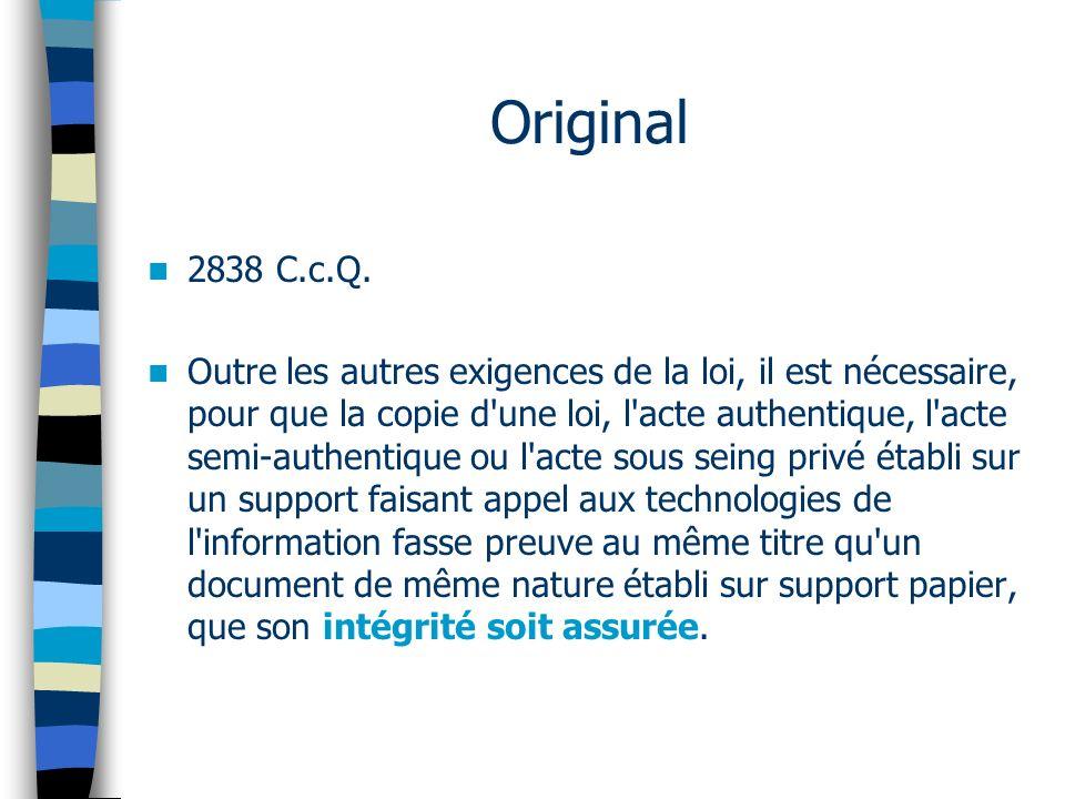 Original 2838 C.c.Q.