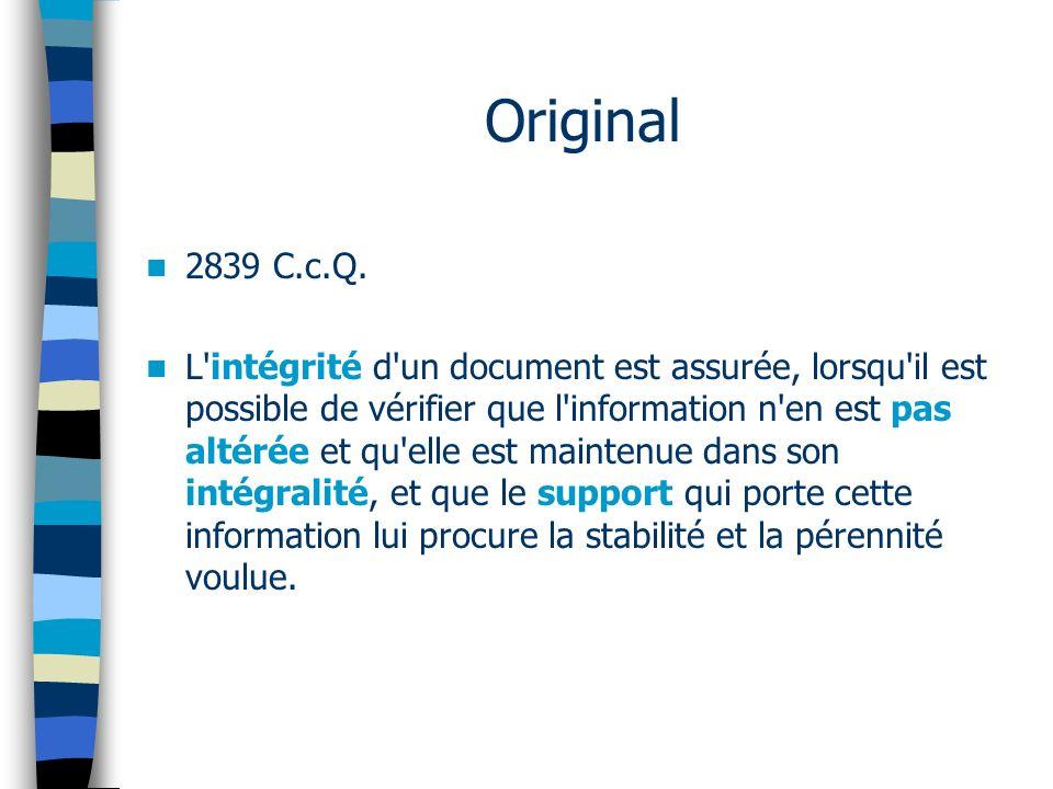 Original 2839 C.c.Q.