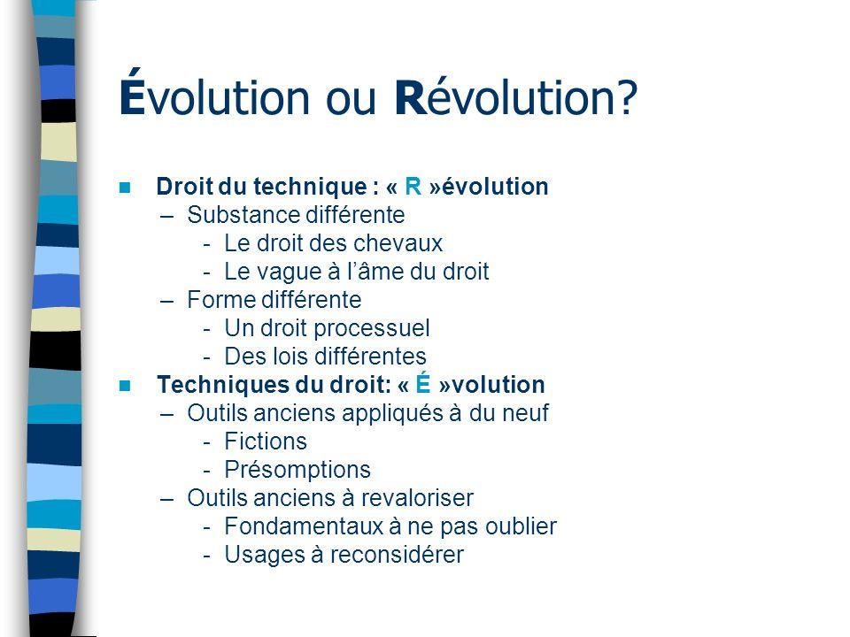 Évolution ou Révolution.
