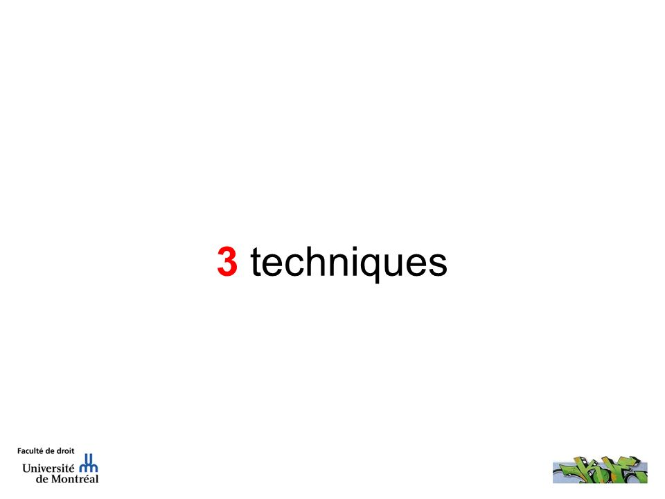 3 techniques