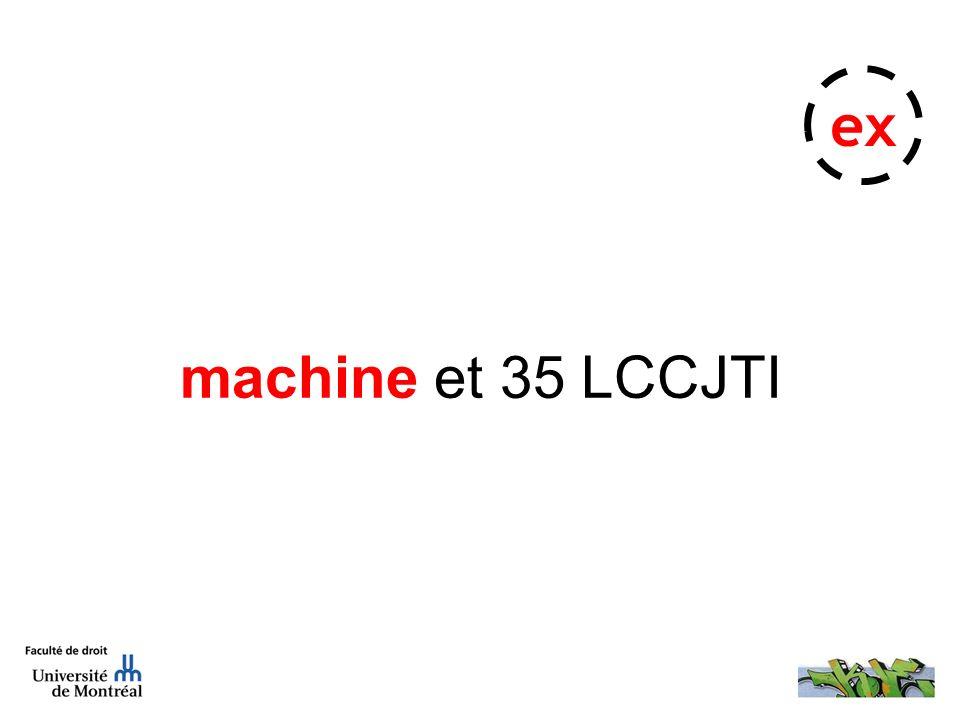 machine et 35 LCCJTI ex