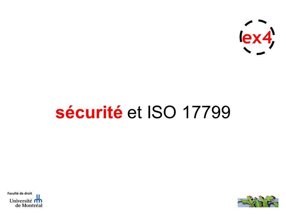 sécurité et ISO 17799 ex4