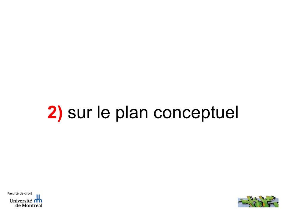 2) sur le plan conceptuel