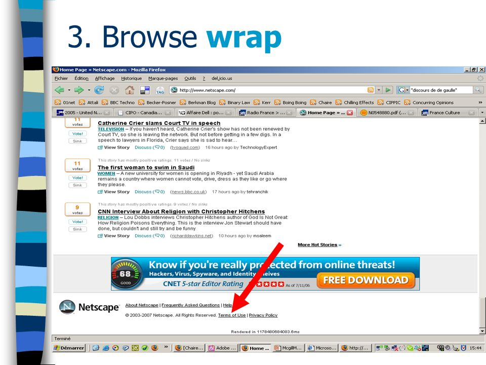 3. Browse wrap