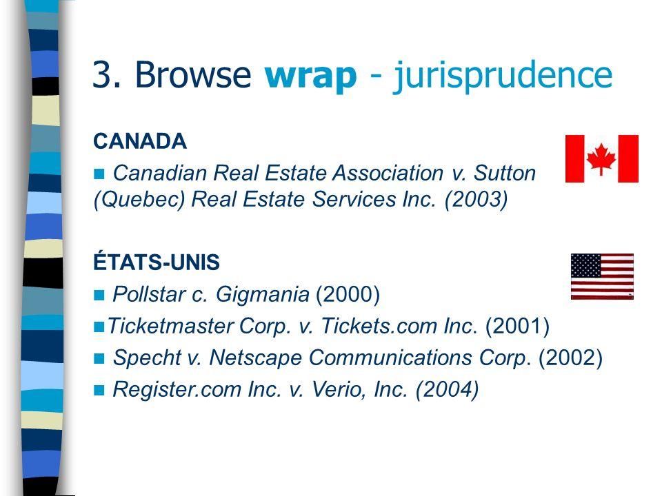 3.Browse wrap - jurisprudence ÉTATS-UNIS (suite) Hubbert v.