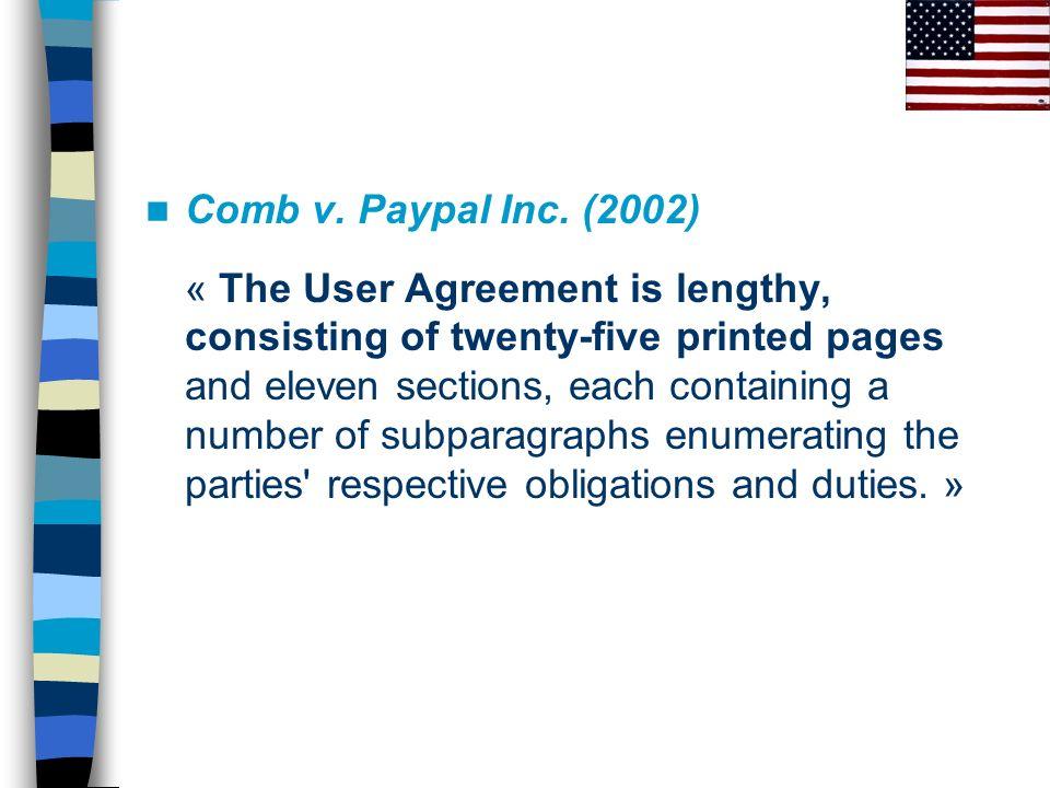 Feldman v.Google (2007) « AdWords Agreement gave reasonable notice of its terms.