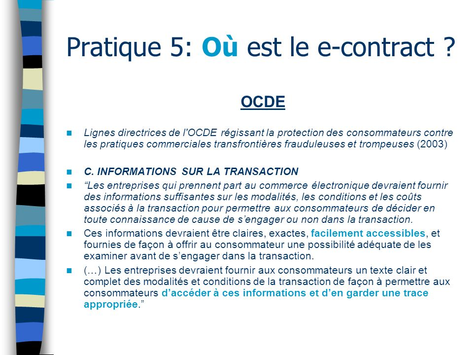Pratique 6: Documents légaux multiples Copyright Privacy Cookies Terms and Conditions of Sale Terms of Use Limited Warranty Service Contracts Hardware Technical Support Policy Etc.