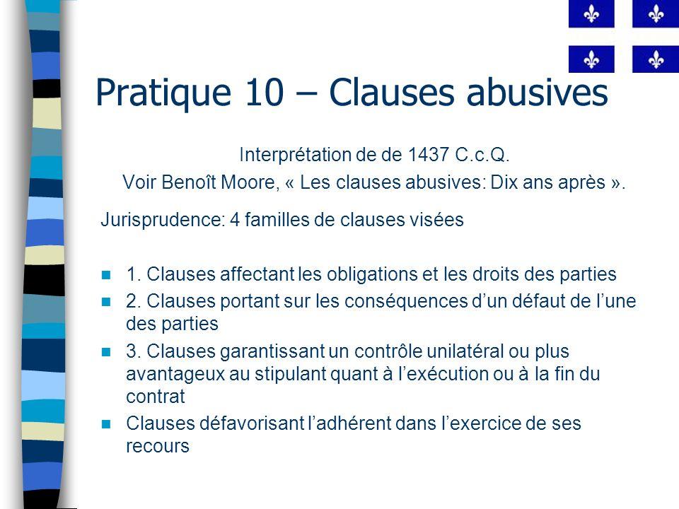 Pratique 10 – Clauses abusives LPC « 8.
