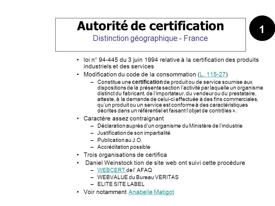 loi n° 94-445 du 3 juin 1994 relative à la certification des produits industriels et des services Modification du code de la consommation (L. 115-27)L