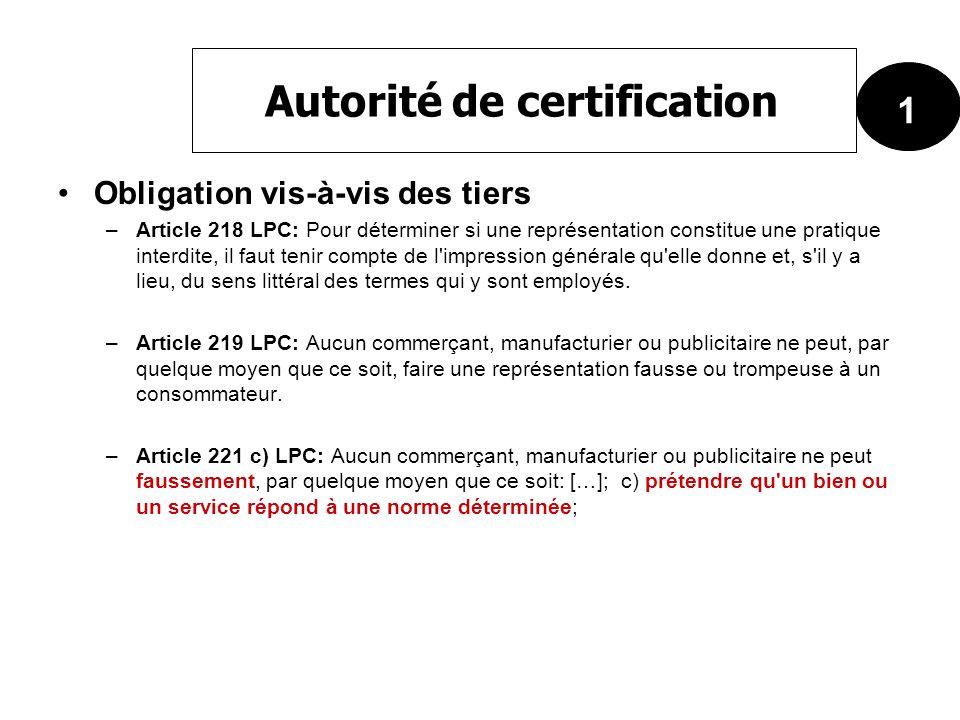 Obligation vis-à-vis des tiers –Article 218 LPC: Pour déterminer si une représentation constitue une pratique interdite, il faut tenir compte de l'imp