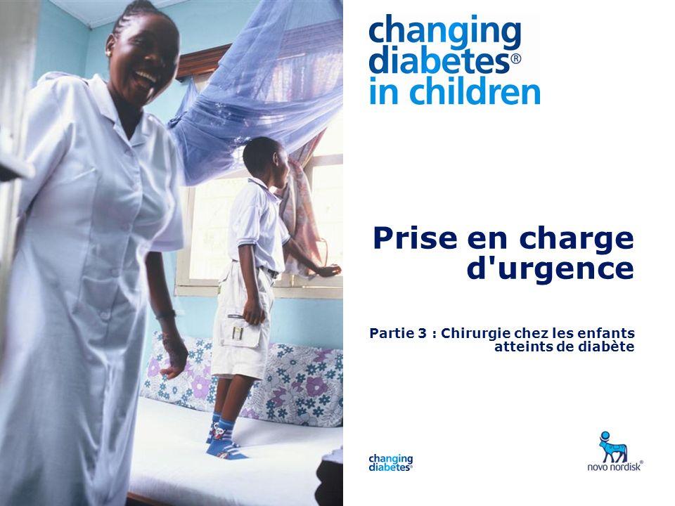Presentation title Prise en charge d'urgence Partie 3 : Chirurgie chez les enfants atteints de diabète