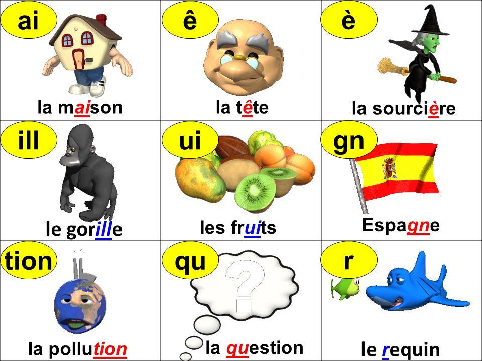 la maisonla tête la sourcière les fruits Espagne la question la pollution tionqu r illui gn aiê è le requin le gorille