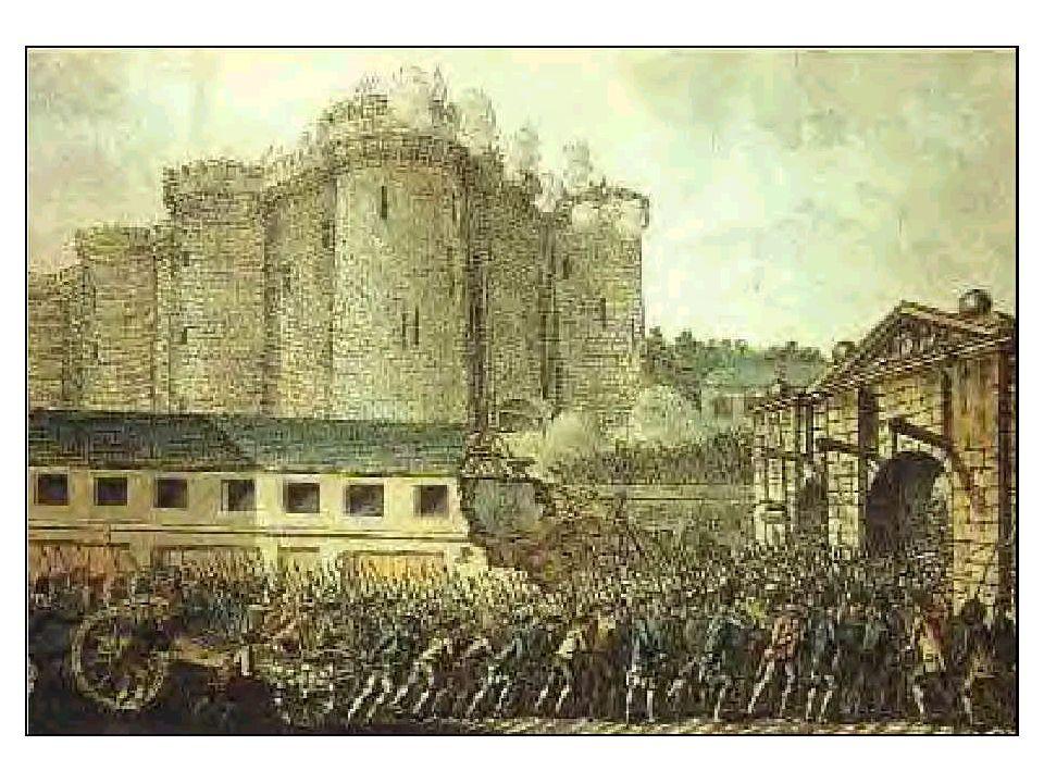 Les Parisiens sont arrivés et se sont heurtés au premier pont- levis. Ils ont parlementé. La foule sest impatientée. Ils ont incendié les boutiques. S