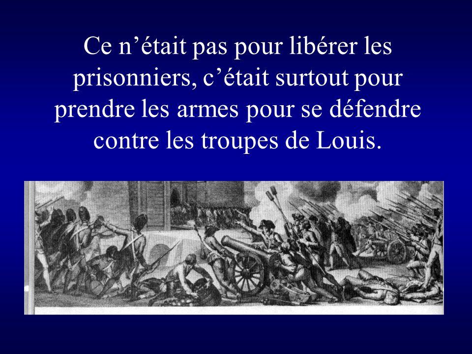 La Prise de la Bastille était une action symbolique parce que la forteresse représentait le pouvoir royal.