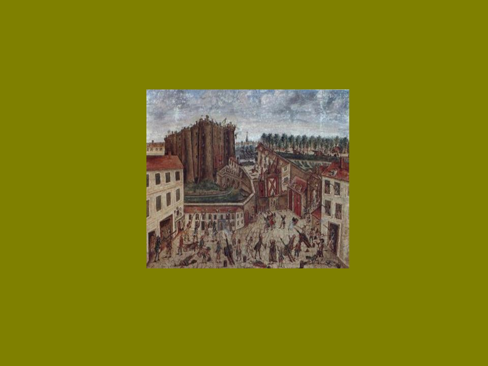 Le grand symbole de la Monarchie Absolue à Paris était la forteresse de la Bastille. Elle avait: 30 mètres de haut 5 mètres de large 8 grosses tours 2
