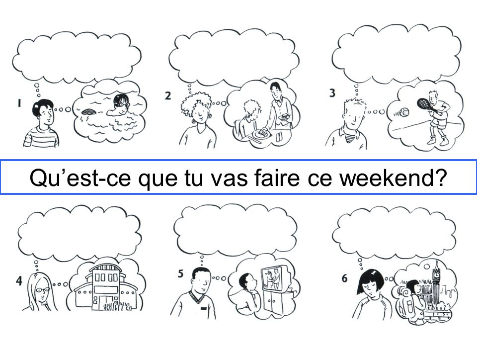 Quest-ce que tu vas faire ce weekend