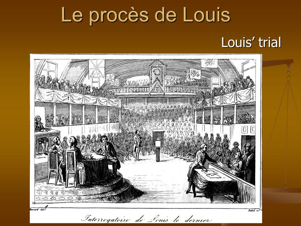 Le procès de Louis Louis trial