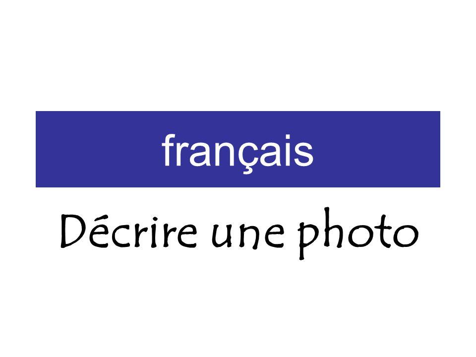 français Décrire une photo
