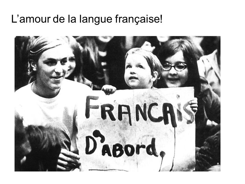 Lamour de la langue française!