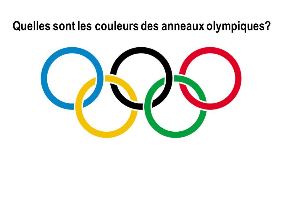 Quelles sont les couleurs des anneaux olympiques?