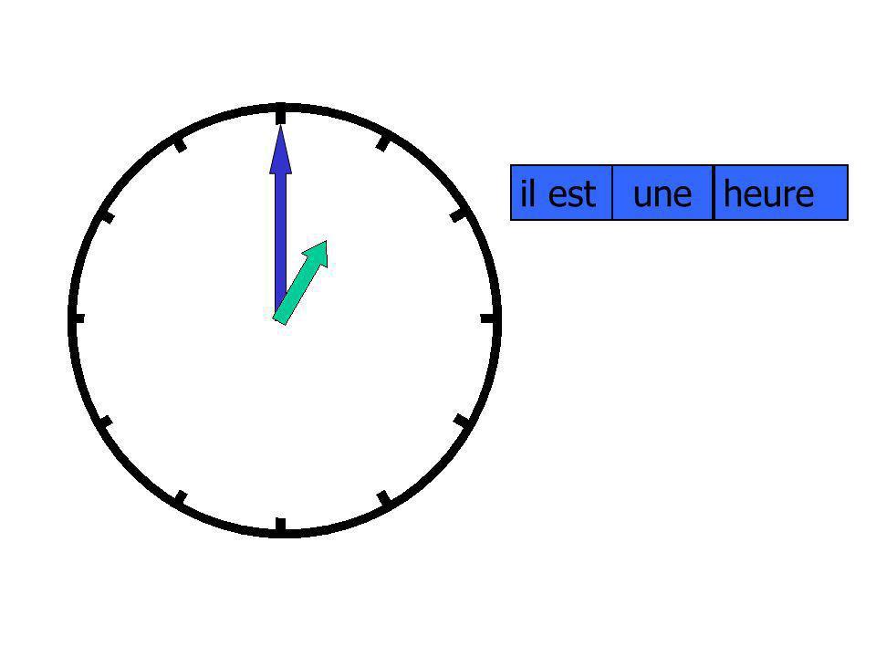 1.il est onze heures. Ecris les phrases. 4. il est midi moins le quart.