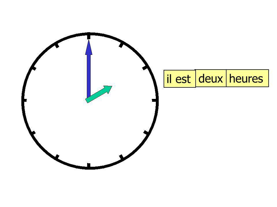 12 6 93 1 2 4 57 8 10 11 il est …… et demie Quelle heure est-il?
