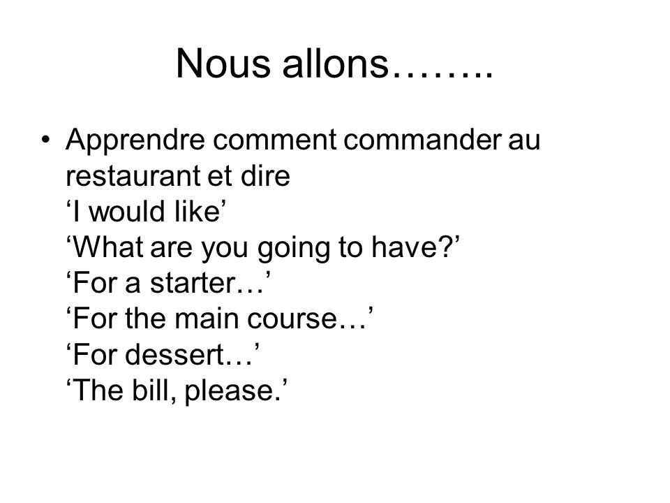 Quest-ce que tu prends .1 I would like a croissant and a coffee please.