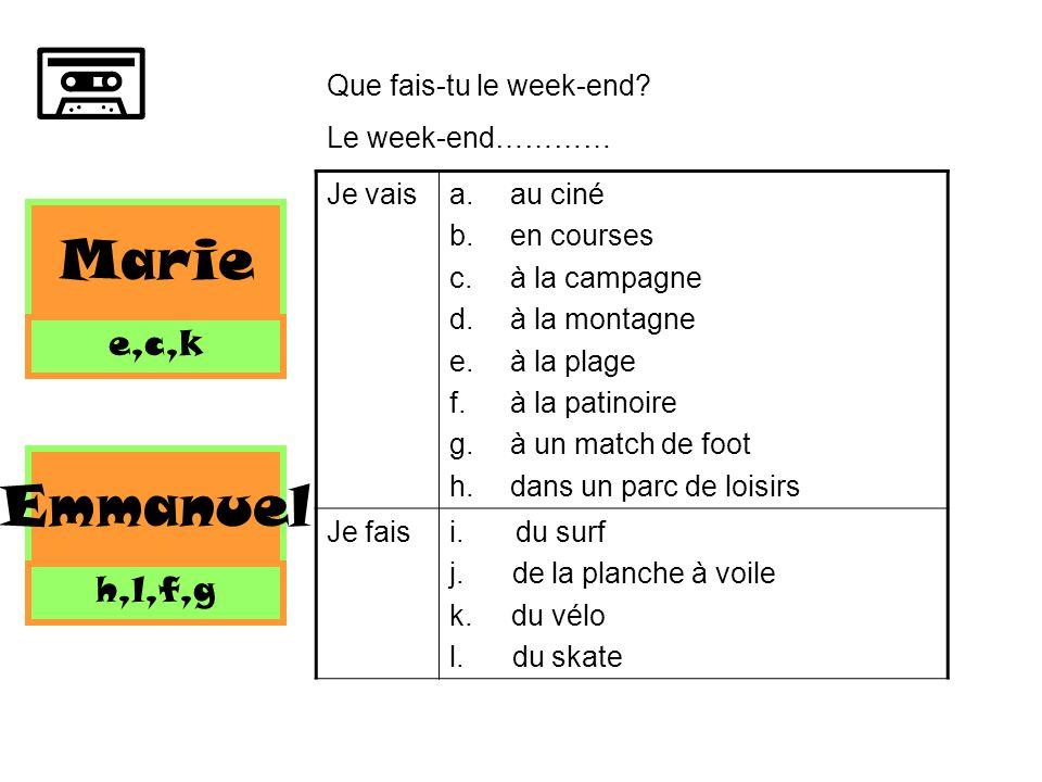 Nous allons.... Apprendre plus de vocabulaire pour parler des activités Utiliser des nouveaux verbes
