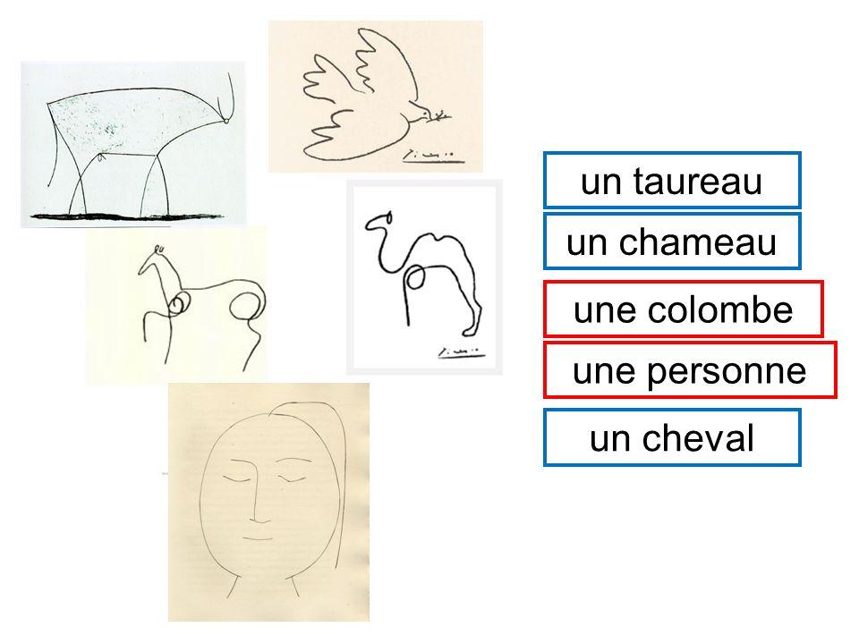 un t_ _ _ _ _ _ un c_ _ _ _ _ _ un c_ _ _ _ _ une c_ _ _ _ _ _ une p_ _ _ _ _ _ _ un taureau un chameau une colombe une personne un cheval