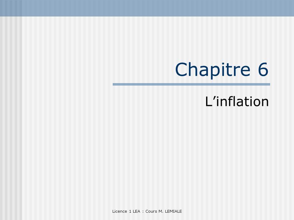 Licence 1 LEA : Cours M. LEMIALE Chapitre 6 Linflation
