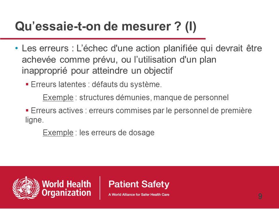 8 Recherche pour la sécurité des patients 5 domaines-clés en matière de recherche pour la sécurité des patients La sélection du type détudes dépendra