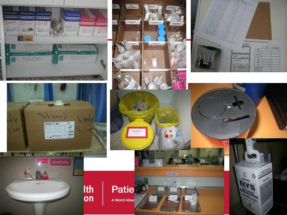 47 Observation de la délivrance des soins, centrée sur la sécurité des injections Observation structurée des matériels et équipements Observation stru