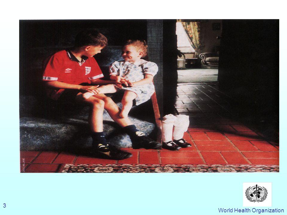 World Health Organization 24 Les programmes sanitaires Caractéristiques Programmes prioritaires Prophylaxie : vaccination, traitement préventif ( ivermictine, albendazole, prophylaxie anti- infectieuse et anti-parasitaire…) Traitement ( rectal artesunate traitement du paludisme, Tuberculose, Schistosomiase…) Irradication ( filariose lymphatique, Trachome, Lèpre, programme délimination de la poliomyélite …) Programmes intensifs et verticaux Distribution gratuite des médicaments