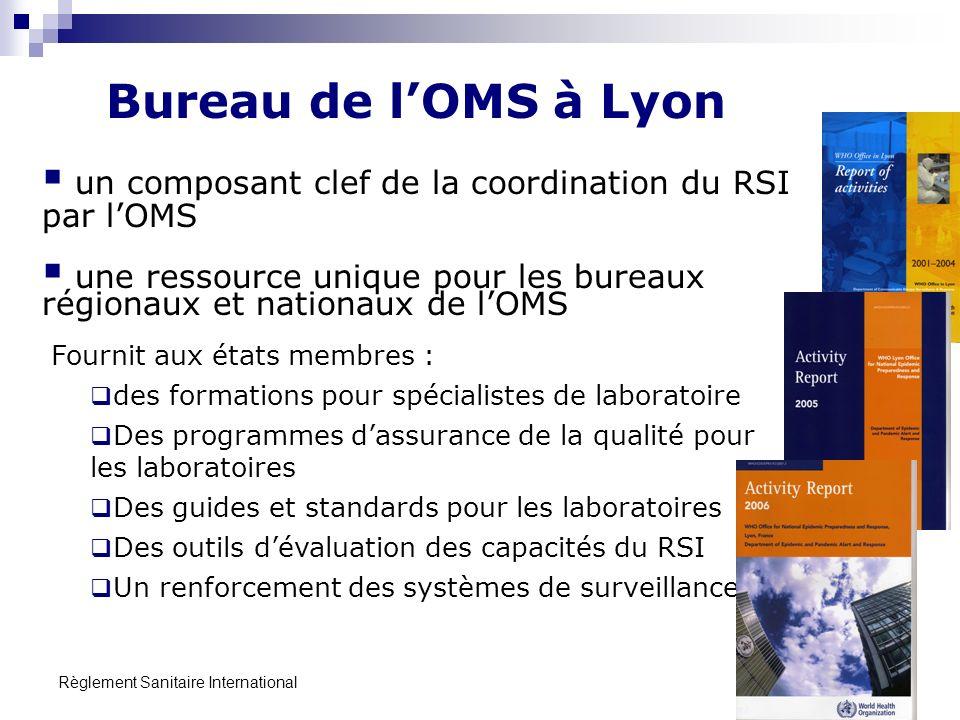 Règlement Sanitaire International 18 un composant clef de la coordination du RSI par lOMS une ressource unique pour les bureaux régionaux et nationaux