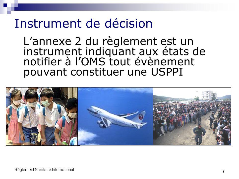 Règlement Sanitaire International 8 Un évènement est-il notifiable à lOMS .