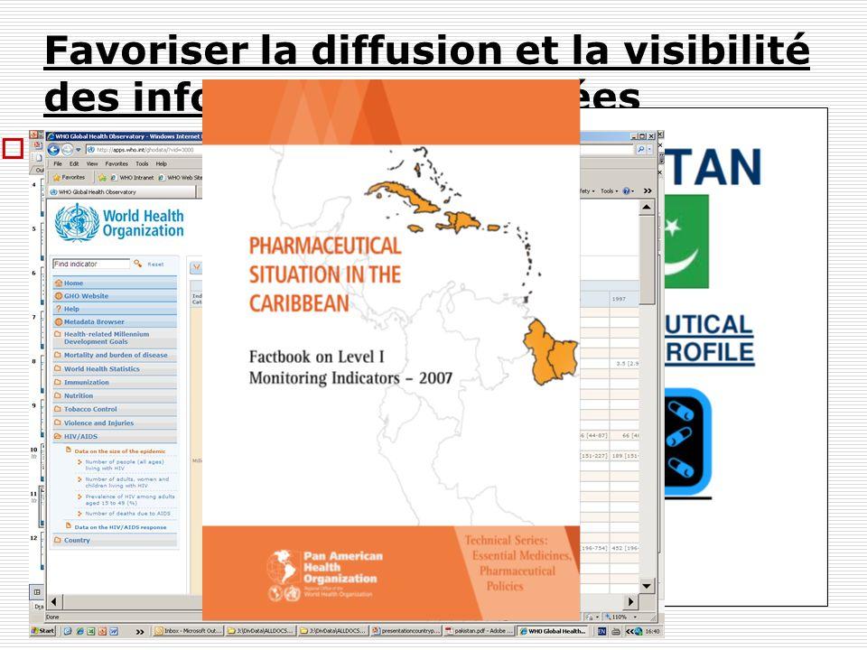 Favoriser la diffusion et la visibilité des informations collectées Un haut fonctionnaire du Ministère de la Santé sera demandé de fournir une autoris