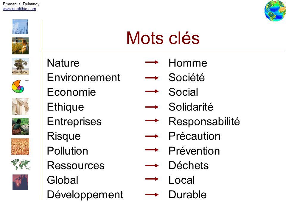 Emmanuel Delannoy www.noolithic.com Mots clés Nature Environnement Economie Ethique Entreprises Risque Pollution Ressources Global Développement Homme