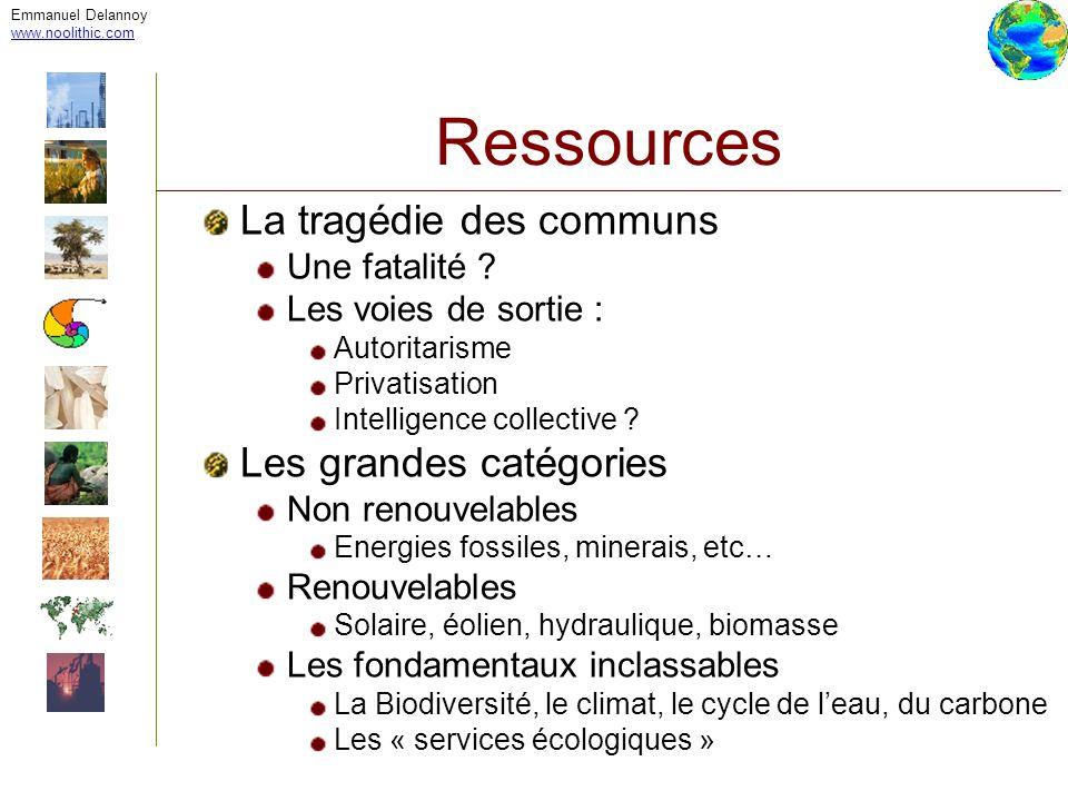 Emmanuel Delannoy www.noolithic.com Ressources Système fermé ?