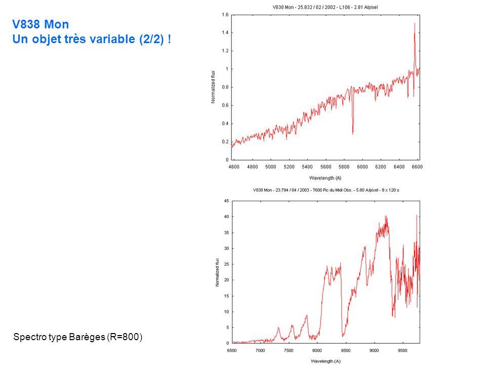 V838 Mon Un objet très variable (2/2) ! Spectro type Barèges (R=800)