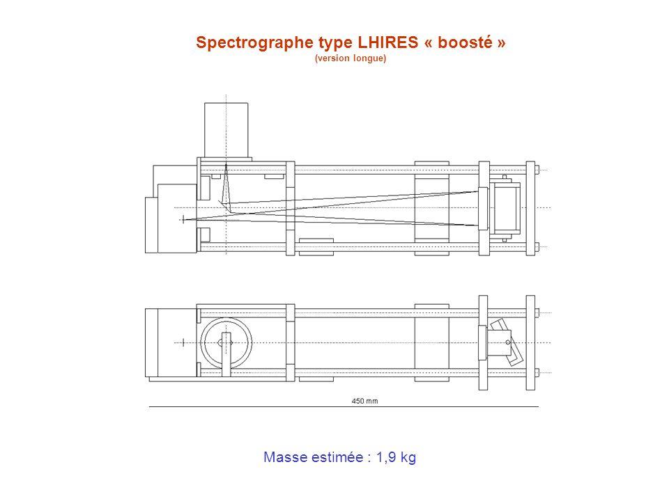 Spectrographe type LHIRES « boosté » (version longue) Masse estimée : 1,9 kg