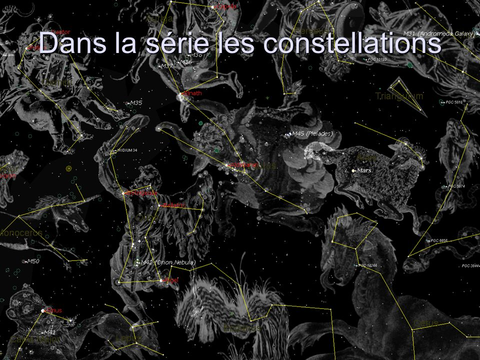 la constellation du Taureau Patrice Janvier 2006 - Localisation - Observation et caractéristiques - Histoire Cette constellation dhiver est l une des plus anciennes puisqu elle était déjà connue des Babyloniens.