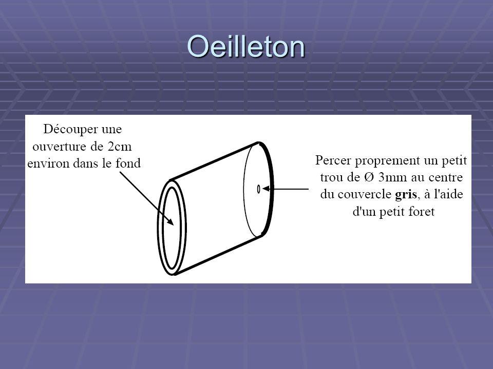Etoile artificielle L étoile artificielle : coller une bille de roulement à billes de Ø 1 à 2mm sur un tasseau peint en noir mat, longueur 1,80m environ