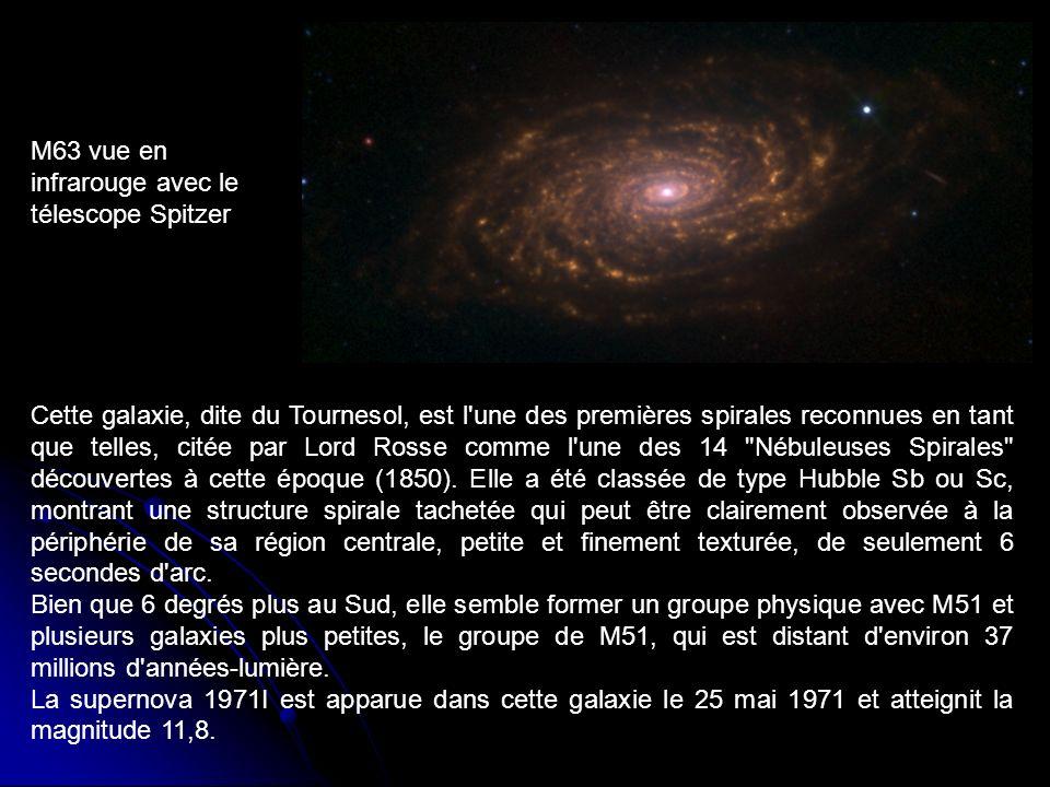 Cette galaxie, dite du Tournesol, est l'une des premières spirales reconnues en tant que telles, citée par Lord Rosse comme l'une des 14
