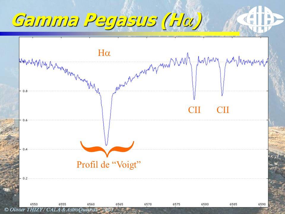 © Olivier THIZY / CALA & AstroQueyras - 2003 Gamma Pegasus (H ) Profil de Voigt } H CII