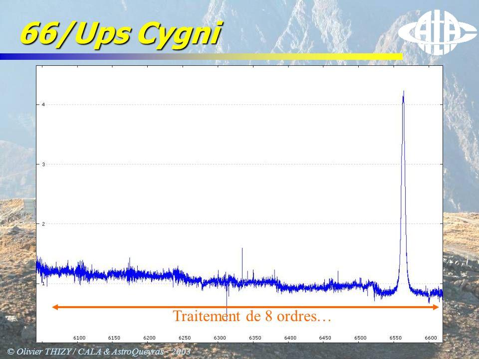 © Olivier THIZY / CALA & AstroQueyras - 2003 66/Ups Cygni Traitement de 8 ordres…