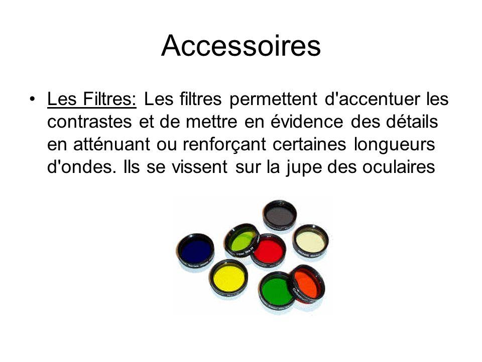 Accessoires Les Filtres: Les filtres permettent d'accentuer les contrastes et de mettre en évidence des détails en atténuant ou renforçant certaines l