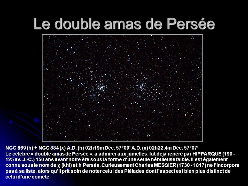 Le double amas de Persée NGC 869 (h) + NGC 884 (x) A.D.