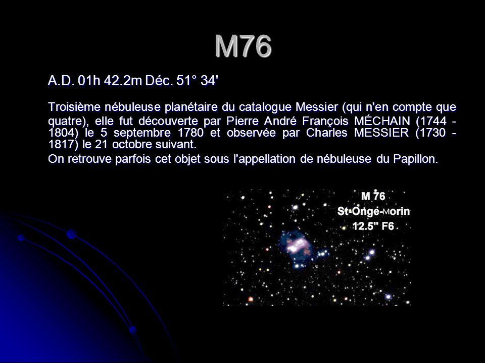 M76 A.D.01h 42.2m Déc.